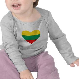Lithuania Flag Heart T-Shirt
