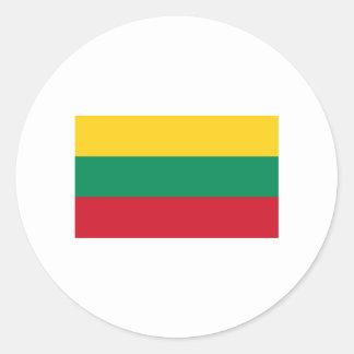Lithuania FLAG International Classic Round Sticker