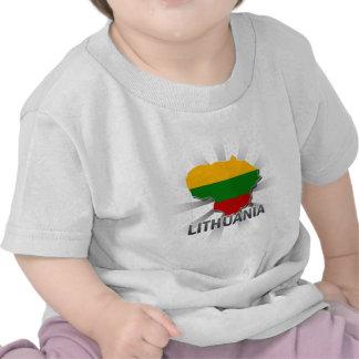 Lithuania Flag Map 2 0 Tees