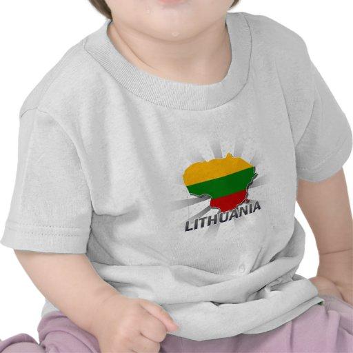 Lithuania Flag Map 2.0 Tees