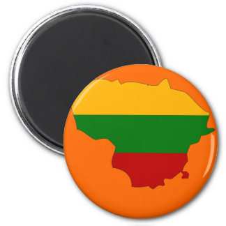 Lithuania flag map magnet
