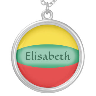 Lithuania Flag + Name Necklace
