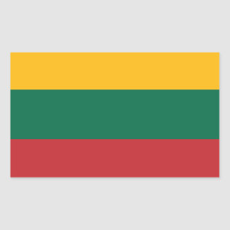 Lithuania Flag Rectangular Sticker