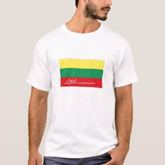 Lithuania flag tshirt by worldgoods