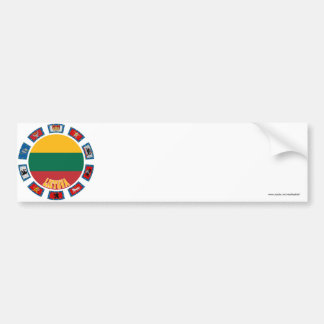 Lithuania Flags Bumper Sticker