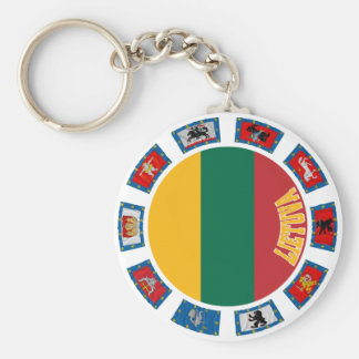 Lithuania Flags Key Ring