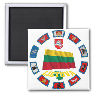 Lithuania Flags Magnet
