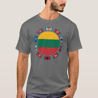 Lithuania Flags T-Shirt