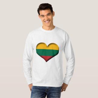 Lithuania Heart Flag T-Shirt