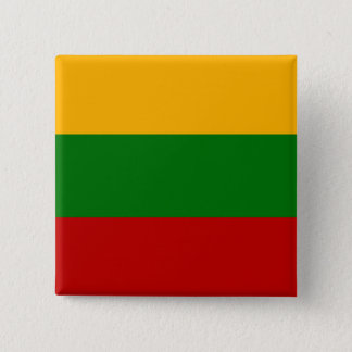 Lithuania High quality Flag 15 Cm Square Badge