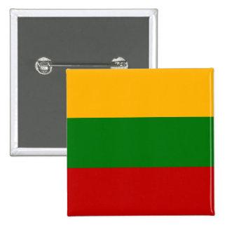 Lithuania High quality Flag 15 Cm Square Badge
