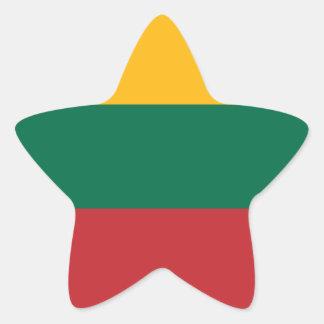 Lithuania/Lithuanian (Civil) Flag Star Sticker