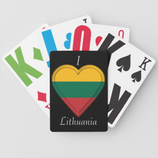Lithuania Lithuanian Flag Bicycle Playing Cards