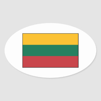 Lithuania  - Lithuanian Flag Oval Sticker