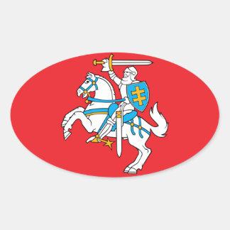 Lithuania/Lithuanian Flag Oval Sticker