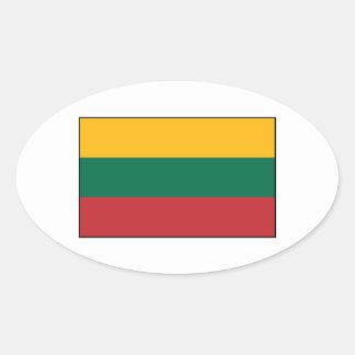 Lithuania  - Lithuanian Flag Oval Stickers