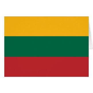 Lithuania  - Lithuanian National Flag Card