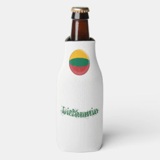 Lithuania, Lithuanian Red Green & Yellow Flag Bottle Cooler