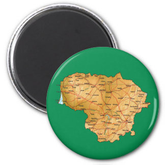 Lithuania Map Magnet