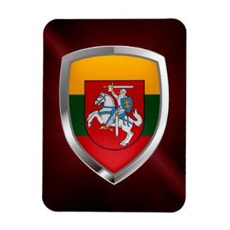 Lithuania Metallic Emblem Magnet