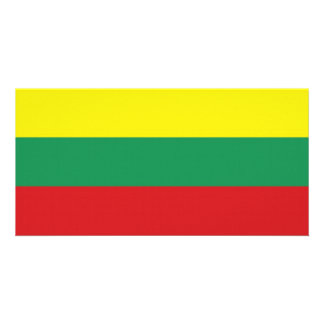 Lithuania National Flag Picture Card