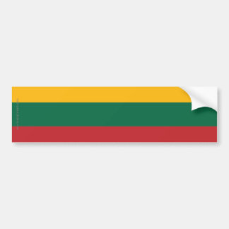 Lithuania Plain Flag Bumper Sticker