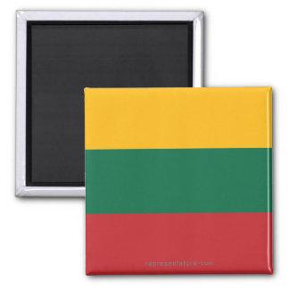 Lithuania Plain Flag Magnet