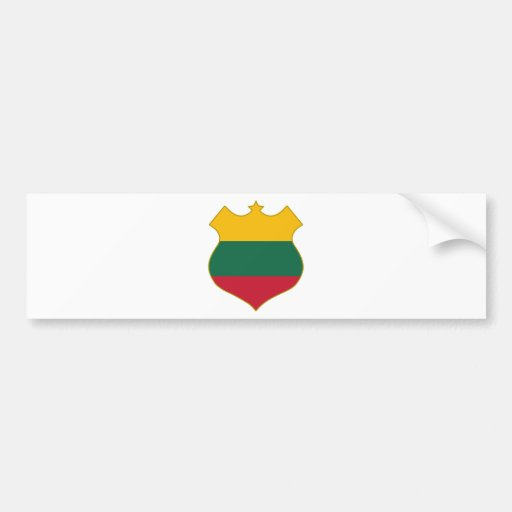 Lithuania-shield.png Bumper Stickers