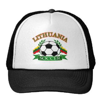 Lithuania soccer ball designs hats