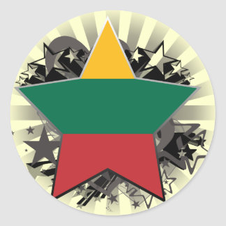 Lithuania Star Classic Round Sticker