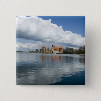 Lithuania, Trakai. Island Castle 15 Cm Square Badge