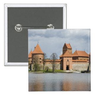 Lithuania, Trakai. Island Castle 2 15 Cm Square Badge
