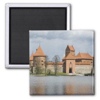 Lithuania, Trakai. Island Castle 2 Square Magnet