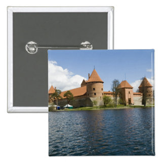 Lithuania, Trakai. Island Castle 3 15 Cm Square Badge