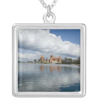 Lithuania, Trakai. Island Castle Silver Plated Necklace