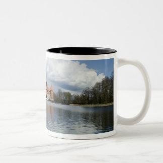 Lithuania, Trakai. Island Castle Two-Tone Coffee Mug
