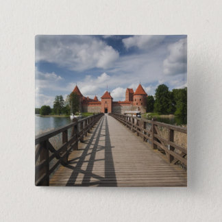 Lithuania, Trakai, Trakai Historical National 15 Cm Square Badge