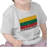Lithuania Vintage Flag T Shirt