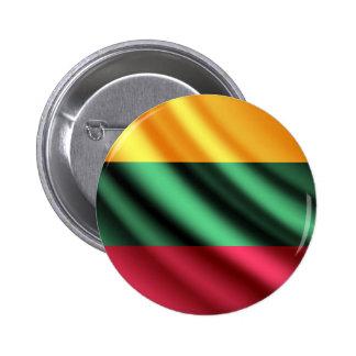 Lithuania waving flag pinback button
