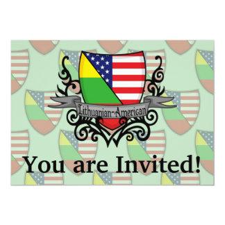 Lithuanian-American Shield Flag 13 Cm X 18 Cm Invitation Card