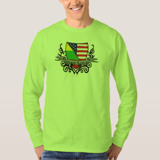 Lithuanian-American Shield Flag T-Shirt