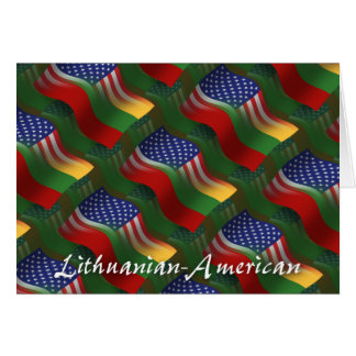 Lithuanian-American Waving Flag Greeting Card