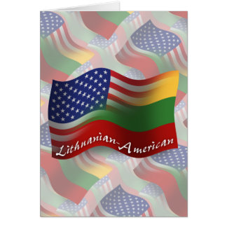 Lithuanian-American Waving Flag Greeting Card