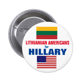 Lithuanian Americans for Hillary 2016 6 Cm Round Badge