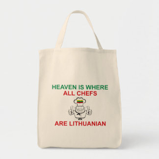 Lithuanian Chefs Grocery Tote Bag