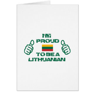 LITHUANIAN Design Greeting Card