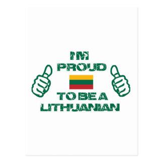 LITHUANIAN Design Postcard