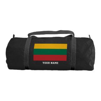 Lithuanian flag gym duffel bag