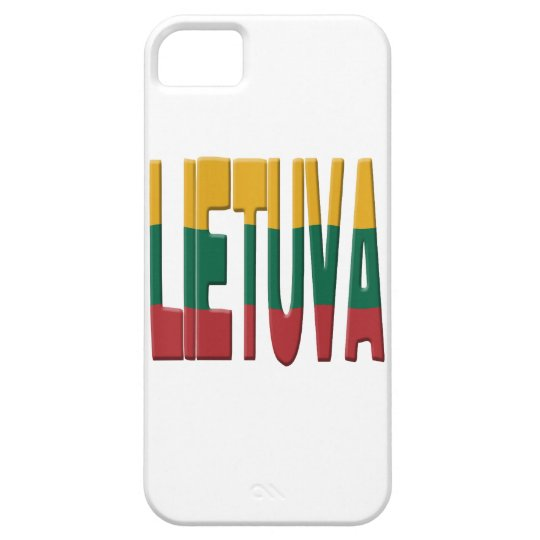 Lithuanian flag iPhone 5 cover