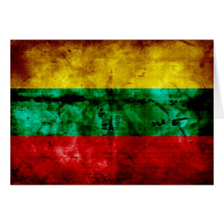 Lithuanian Flag Note Card